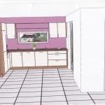 Blick aus dem Wohnzimmer (Kücheninsel ausgeblendet)
