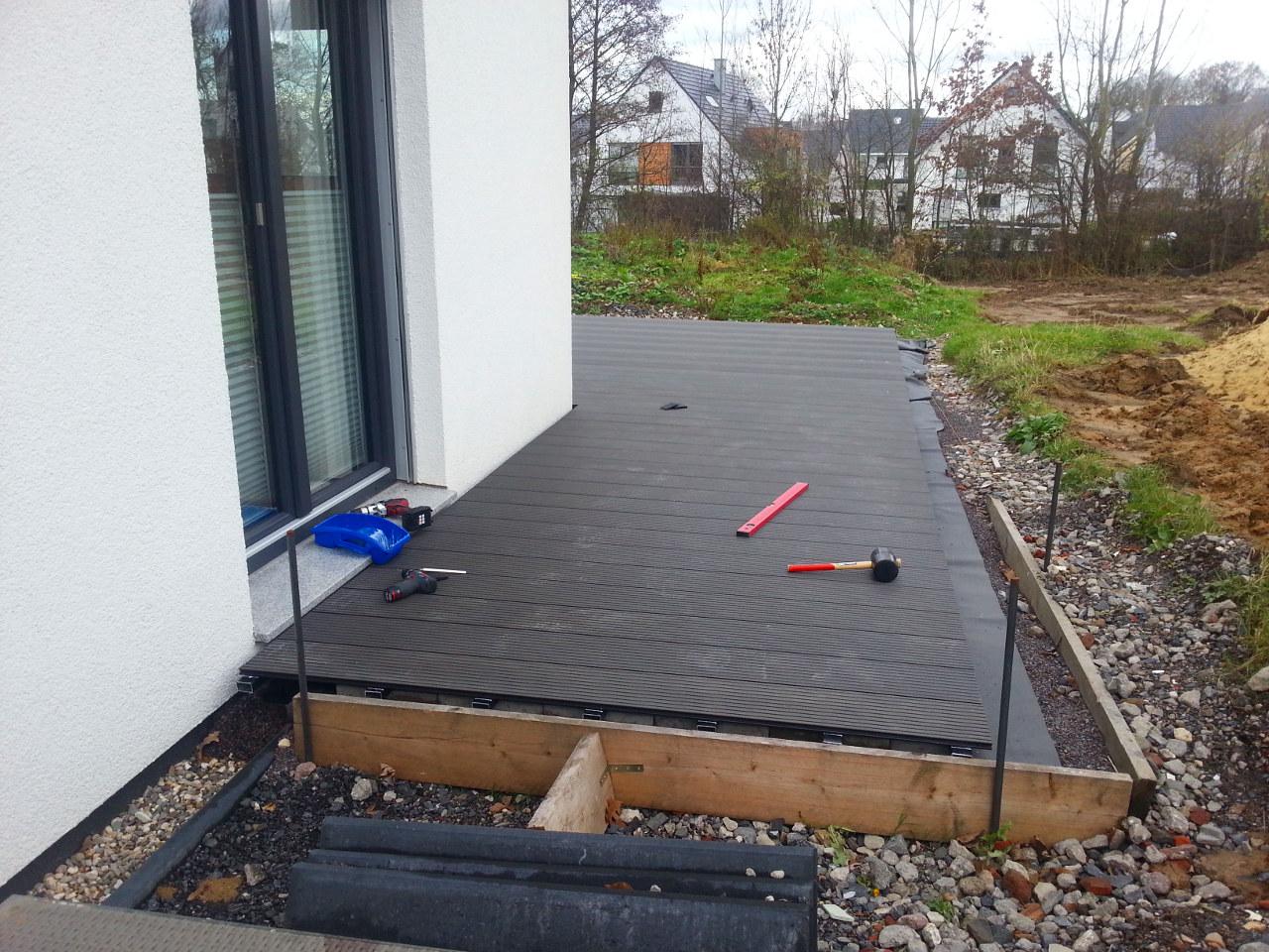 terrasse in eigenregie teil 2 our home is our castle. Black Bedroom Furniture Sets. Home Design Ideas